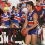 Luke Beveridge from 1994 Round 23, Footscray v Melbourne HSV 7 4th qtr @ 01.41.25