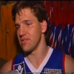 Andrew Purser 1985 after Footscray v Carlton