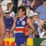 Robbie West from 1994 Round 23, Footscray v Melbourne HSV 7 4th qtr  @01.50.43